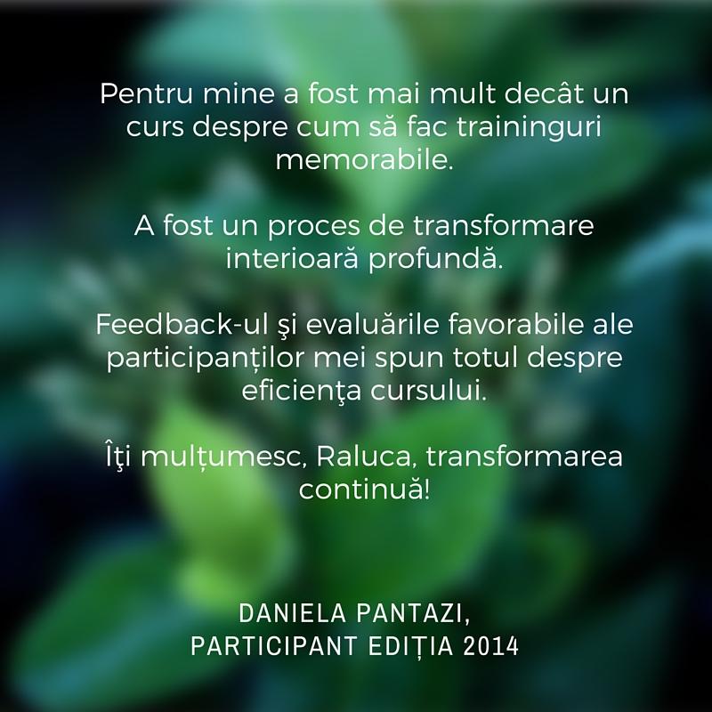 Testimonial Dana Pantazi