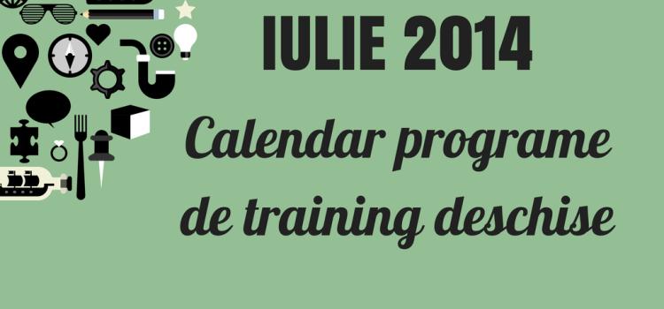 Iulie 2014 – Programe de training deschise ale membrilor