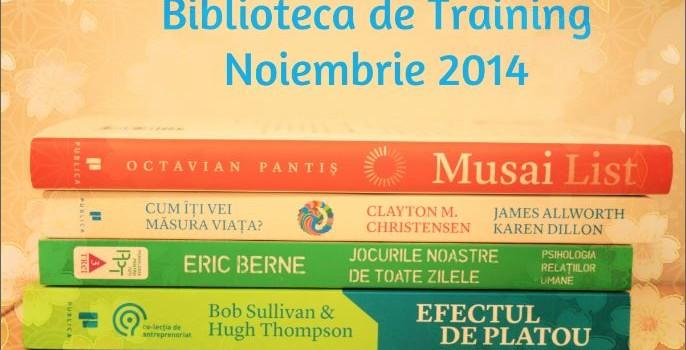 Biblioteca de Training în noiembrie 2014