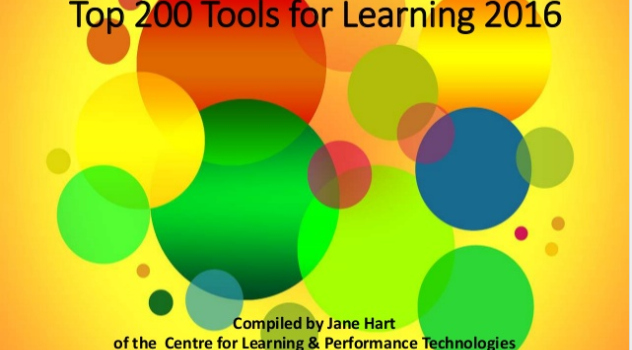 Top 200 Tools for Learning 2016 și vot pentru Top 200 Tools for Learning 2017