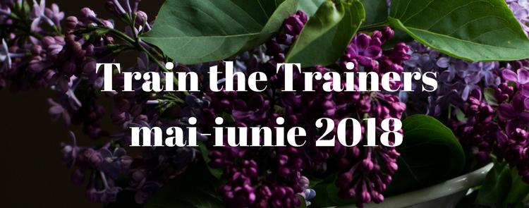 Train the Trainers / Formator mai-iunie 2018