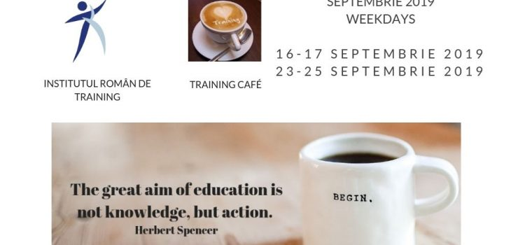 Train the Trainers septembrie 2019 weekdays