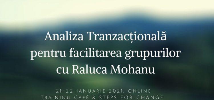 ANALIZĂ TRANZACȚIONALĂ PENTRU FACILITAREA GRUPURILOR, 21-22.01.2021, online